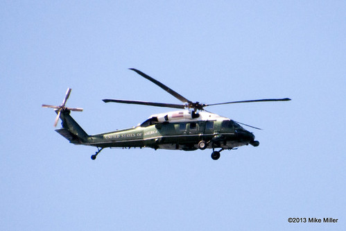 Marine One Flying Over San Francisco