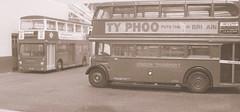 Generations apart (kingsway john) Tags: dms rt souble deck bus london transport garage 1970s seventies model kingsway models 176 scale efe londontransportmodel diorama oo gauge miniature