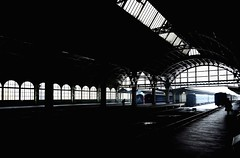 First Station (First Ever in Russian Empire) (T4_photo) Tags: railroad urban station silhouette nikon russia steel rail railway trains saintpetersburg 1855 dx         vitebsky geometriegeometry d7000