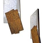 "<b>Detroit, 2010</b><br/> (Benincasa, Encaustic, rust, wood, oil paint, cement on panel)<a href=""http://farm9.static.flickr.com/8403/8621522703_9c700336fe_o.jpg"" title=""High res"">∝</a>"
