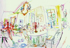 Rural Chic Caf. (a.rmyth) Tags: fish eye colors sketch flickr drawing couleurs 180 spherical 360 spherique urbansketching urbansketches urbansketch drawingonlocation armyth rmyth metaspheric fisheyedrawing mtaspherik metaspherical metaspherique franceurbansketcher franceurbansketches francecroquisurbains