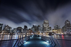 Night VIBES - The San Francisco Cityscape (Andrew Louie Photography) Tags: life california camera city fog night canon dark photography lights pier san francisco neon cityscape knight vibes gotham