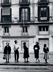 La Rambla (Barcelona) 1956. Ramón Masats. (Fuente. Taller ediciones)