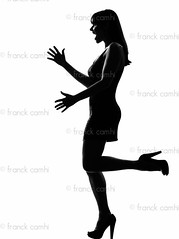 stylish silhouette woman happy welcoming (Franck Camhi) Tags: shadow people woman white cute sexy girl beautiful beauty silhouette female standing laughing cutout fun happy person one 1 amusement glamour dress salute profile joy fulllength young happiness indoors whitebackground surprise friendly surprised casual studioshot greetings grayscale sensuality sideview enjoying enjoyment pleasure oneperson amazed shocked welcoming caucasian armsoutstretched onewoman
