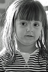 Portrait (BW) (Nikon D7100 - High ISO) (markdbaynham) Tags: portrait bw white black girl digital high nikon child iso cropped format dslr sensor dx apsc d7100