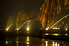 Forth Bridge 2 - 10 April 2013 (Grant_R) Tags: night reflections lights scotland edinburgh lowtide forthbridge southqueensferry forthbridges forthrailbridge grantr
