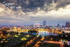 Ban Nguyet lake in a afternoon rain (Andy Le | +84908231181) Tags: sky lake rain skyline buildings season asian vietnamese vietnam chi ho minh saigon hung phu semicircular my