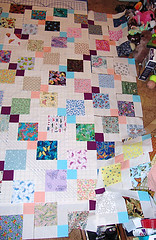 grandma2 (sharpshayla) Tags: butterfly quilt nine patch kona disappearing 9patch
