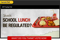 School-lunch-fryday-poll (joneshannah978) Tags: lunchbox infographic facts healthfood healthydiet lunchmeals shouldschoollunchberegulated