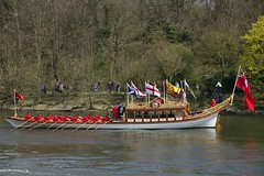 21st April 2013 (EmmaDurnford) Tags: thames boats pull lock craft tudor middlesex barge flotilla teddington gloriana