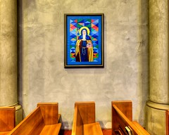 Portrait of a Saint (Doug Santo) Tags: architecture buildings cathedral sandiego churches episcopal stpaulcathedral architecturalphotography historicbuildings archedportico portraitofasaint