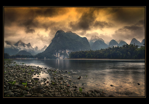 Sunset from Yangshuo, China