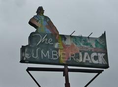 THE LUMBERJACK ORICK CALIF (ussiwojima) Tags: california sign bar advertising neon lounge cocktail tavern orick thelumberjack