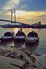 Ekta Hothat Paoa Bikelbela.. (Sandipa Malakar (bristii)) Tags: colour canon eos evening boat asia kolkata bengal westbengal 2ndhooglybridge 60d prinsepghat