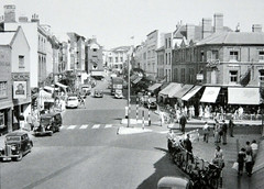 English Town 1950's (colinfpickett) Tags: road street bus cars town village streetscene 1950s vans 1960s avenue dwellings