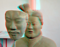 The Terracotta Woman 3D (wim hoppenbrouwers) Tags: 3d terracotta anaglyph delft oudekerk keramiek redcyan 2013 marianheyerdahl oudekerkdelft theterracottawoman oudekerkdelftanaglyph