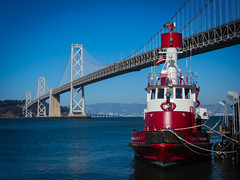 SFFD Guardian Fire Boat No 2.jpg (Peter L Giordano) Tags: sanfrancisco california water architecture place unitedstates thing country bridges baybridge embarcadero geo firedepartment genre fireboat station35