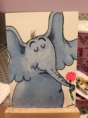 Horton (Wenturner71) Tags: elephant atc seuss horton markers copic swapbot uploaded:by=flickrmobile flickriosapp:filter=nofilter