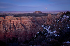 Moonrise over the Grand Canyon (gorbould) Tags: moon evening dusk grandcanyon moonrise desertview roadtrip2013