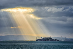 And The Heavens Parted (Clint Sharp) Tags: world sanfrancisco california wonderful baker fort bayarea alcatraz nik publish godrays fortbaker d600 wonderfulworld colorefexpro4 nikcollection