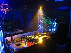 IMG_9390 (Dan Correia) Tags: techno lights dj mixer turntables cdjs blacklight laptop macbookpro macintosh traktor traktorscratch kontrolx1 abletonlive patfontes beatdownproductions topv111 topv333 topv555
