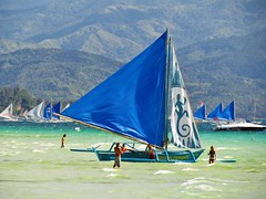 Double Outrigger (Ver Argulla Jr) Tags: sea mountain beach sailboat boat philippines sail boracay malay outrigger paraw whitebeach aklan
