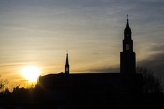 church (tobiaszj) Tags: church window sunrise 50mm view pentax 12 smc k5 f12