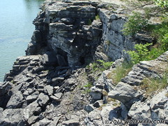 Small cave entrance in Wainfleet Quarry May 20, 2013 (Wolfmaan) Tags: camping ontario canada outdoors hiking barefoot barfuss wainfleet
