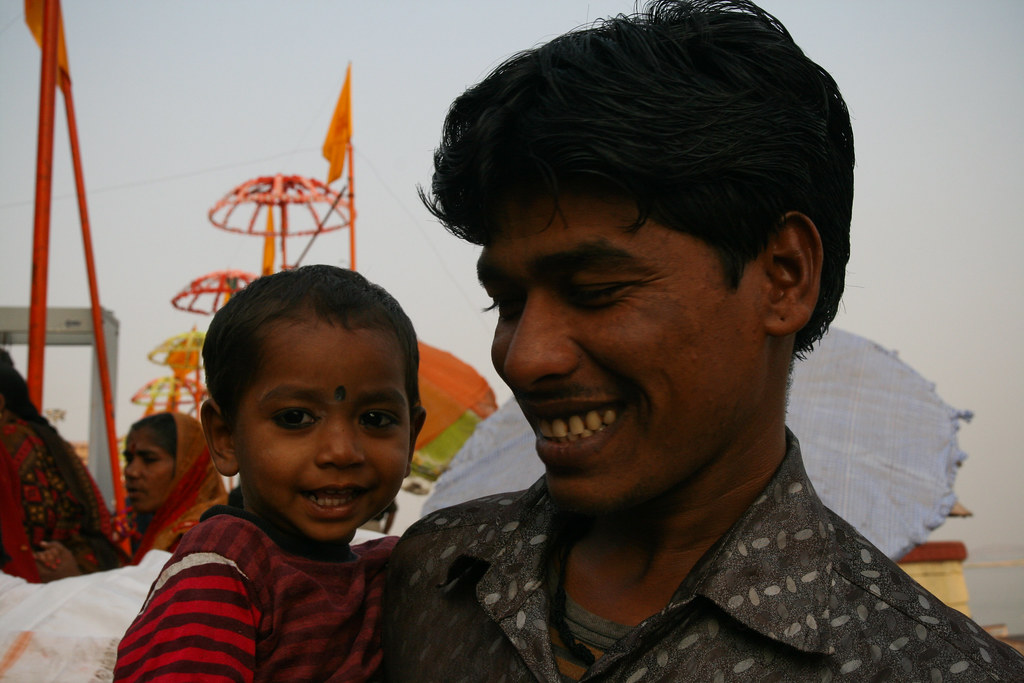 Child and his father