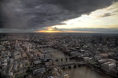 (davidkhardman) Tags: sunset urban london thames clouds landscape cityscape shard tonemapped canonef24105mmf4lis