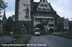 Freiburg 205 Schwabentor (TonyW1960) Tags: freiburg tram strassenbahn electrico bonde streetcar tranvía трамвай spårvagn trikk トラム 电车 חשמלית ترام tranvia