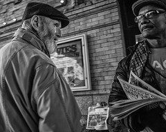 Reading Terminal Market, 2016 (Alan Barr) Tags: street people blackandwhite bw philadelphia monochrome mono market candid streetphotography sp streetphoto gr ricoh readingterminalmarket 2016 readingmarket