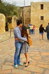 Lovers at the Alamo (radargeek) Tags: sanantonio tx texas alamo downtown tourist hugs