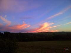 Welsh Sunset Painted the Sky II (caren (Thanks for 1 Million+ views)) Tags: welshsunset sunset sun cloudformation sky landscape sonnenunterganginwales sonnenuntergang westwales cymru ceredigion orange blue red yellow green