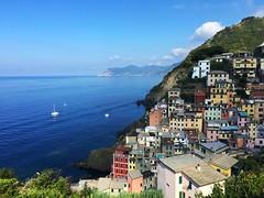 Riomaggiore morning - iPhone (Jim Nix / Nomadic Pursuits) Tags: cinqueterre village coastline vista view morning riomaggiore italy europe travel snapseed iphone