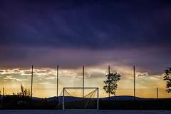 field of dreams (TheOtherPerspective78) Tags: soccer goal field fussball fussballfeld tor netz net torn abandoned derelict evening dusk clouds sky sunset abend wolken himmel outdoors landscape landschaft croatia kroatien august sonnenuntergang verlassen theotherperspective78 village canon ef24105l