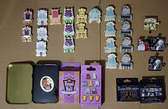 Disneyland Pin Purchases - 2016-07-28 (drj1828) Tags: us disneyland deboxed pin limitedrelease disneyprincess throne royal 2016 chaser mystery blind nightmarebeforechristmas characterconnection puzzle disneyduet limitededition