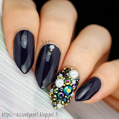 rhinestone_nail_art (-Yue) Tags: approved nailart nails rhinestones pearls microbeads stiletto almond 3d opi miss youniverse