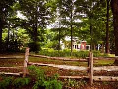 A Home in Pigeon Hill, Quebec (JFGryphon) Tags: hff pigeonhillquebec fence rusticfence splitrailfence railsplitter