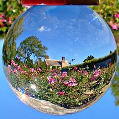 Batemans through the globe (ttelyob) Tags: batemans nationaltrust globe ball crystalball picmonkey