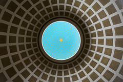 Dome III (Jan van der Wolf) Tags: map154218v dome koepel circle cirkel round rond symmetric symmetry symmetrie dissymmetry shadow schaduw kerk church blue stars sterren blauw symbolic symbolisch