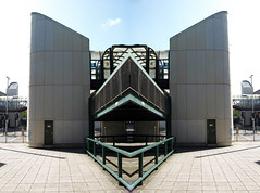 twin towers (chrisinplymouth) Tags: photoshop digitalart urban cw69x mirrorart plymouth devon england plymgrp