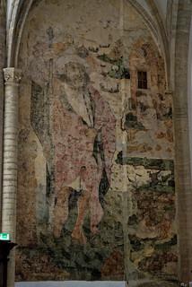 Peinture murale de Saint Christophe - Eglise (grote kerk) de Breda - Brabant Septentrional (53)