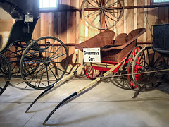 Early 1800s 2-wheeled jogging cart (SteveMather) Tags: governess cart two wheeled 2wheeled jogging transport sporting vehicle wicker 2016 mahoning canfield fair youngstown fairgrounds oh ohio horse drawn county westernreservevillage