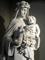 St Rose with Our Lord (Lawrence OP) Tags: dominican nuns monastery buffalo ny marble statue sculpture strose roseoflima tertiary saint