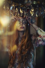 Kaleidoscope (Something long forgotten) Tags: julia morozova kaleidoscope portrait girl play cristal longhair