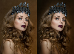 6 (kriisha) Tags: until after retouching treatment beautiful girl frequency decomposition