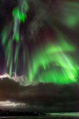 """Lofoten2016-25 (Federico """"Jger"""" Serafini) Tags: norvegia lofoten ghiaccio rocce rocks norway aurora boreale northern light clouds nuvole sea spiaggia long exposure"""