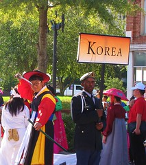 Swordsman (Gerry Dincher) Tags: internationalfolkfestival parade fayetteville northcarolina cumberlandcounty haystreet personstreet downtownfayetteville multicultural korean korea southkorea swordsman warrior sword