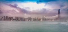 Good Morning Hongkong (alexhfotoblicke) Tags: hongkong asia city victoriaharbor nikon nikond750 nikon1635 fog